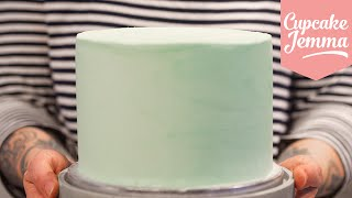 Masterclass: How to Decorate a Layer Cake with Smooth Buttercream Icing | Cupcake Jemma by Cupcake Jemma