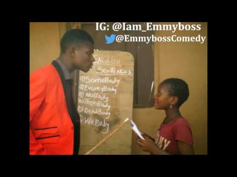 Little Girl Made a Sentence With Pres. BuHaRi  - Comedian Emmyboss