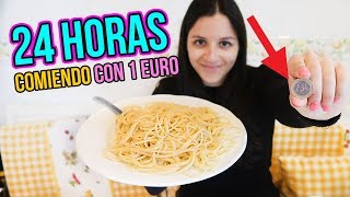 24 horas comiendo por 1€ - I Only Spend €1 Food for 24 Hours Challenge Natalia