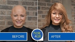 How to Apply (Attach) a Non-Surgical Hair Replacement System for Women with Hettie
