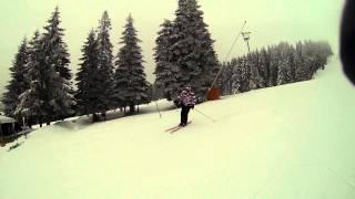 Petar Lazic skiing on Kopaonik / Malo Jezero