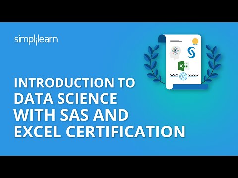 Introduction To Data Science with SAS and Excel Certification   Simplilearn