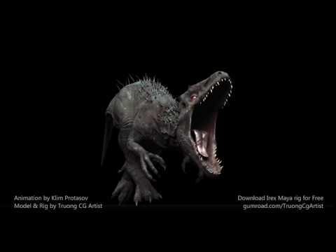 Indominus Dinosaur Roar by Klim Protasov – Truong CG Artist