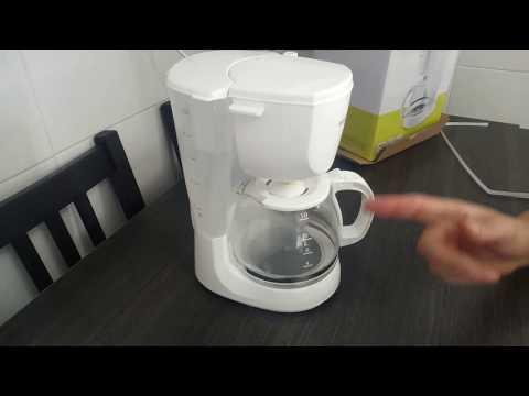 Cafetera con filtro selecline por goteo, gota a gota. unbox