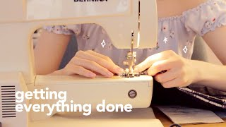 🐦day in the life: sewing, studying, and the switch