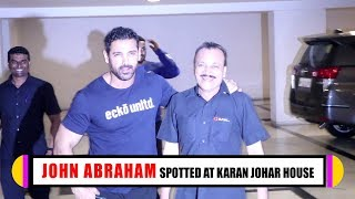 John Abraham Spotted At Filmmaker Karan Johar House | Latest Bollywood Updates | TVNXT Hindi