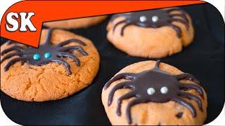 SPIDER CHOCOLATE CHIP COOKIES - Halloween Cookies