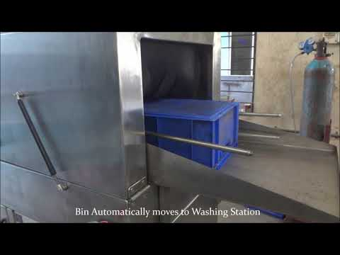 Conveyor Bin Washing Machine