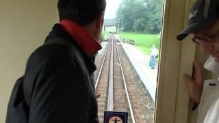 preview picture of video 'Fahrt mit der Zahnradbahn Rorschach - Heiden'