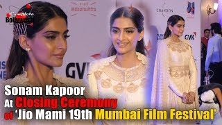 Sonam Kapoor at Closing Ceremony of 'Jio Mami 19th Mumbai Film Festival'