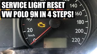TUTORIAL: VW Polo 9N Service Light Reset in 4 steps