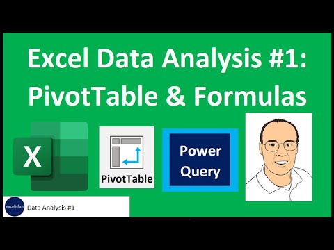 Excel Data Analysis Class 01: PivotTables, Power Query, Formulas and Charts