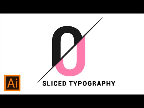 Sliced Text Effect | Adobe Illustrator Tutorial
