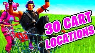 FIND SHOPPING CARTS FAST! All Shopping Cart Locations in Fortnite Battle Royale