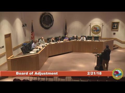 Board of Adjustment 2.21.18