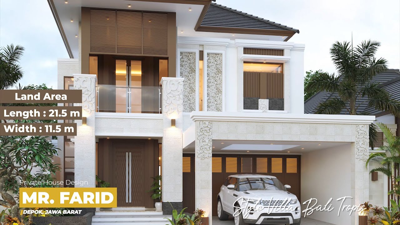 Video 3D Mr. Farid Villa Bali House 2 Floors Design - Depok, Jawa Barat