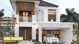 Video Desain Rumah Villa Bali 2 Lantai Bapak Farid di  Depok, Jawa Barat