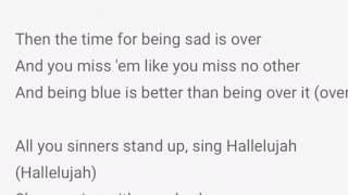 Panic! At the disco/ Hallelujah Karaoke style with lyrics/Mackenize N