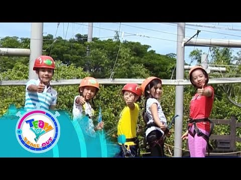 Wall Climbing and Zip line   Team Yey Timeout