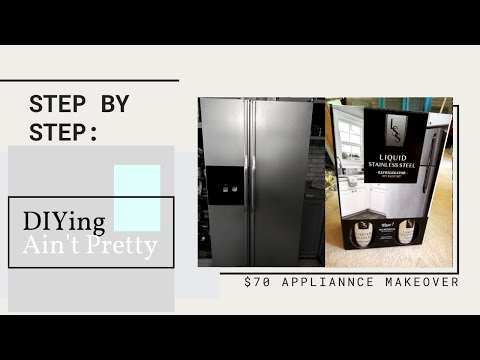 MONEY SAVING APPLIANCE MAKEOVER | Using stainless steel paint to transform your kitchen appliances