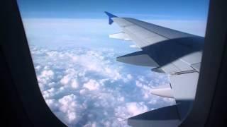 Небо Девушка Самолет Мы летим над облаками 05 09 2015