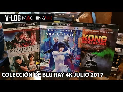 VLOG: COLECCION BLU RAY 4K A JULIO 17 | UNBOXING GHOST IN THE SHELL Y RESIDENT EVIL VENDETTA