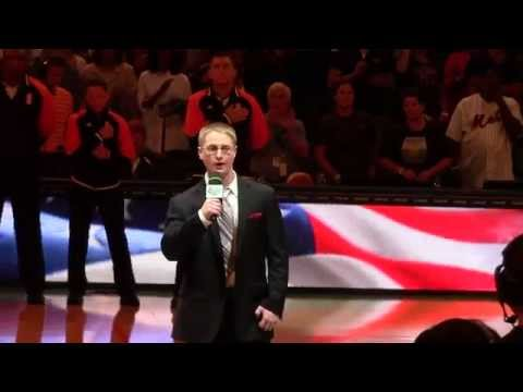 """Vocal student Sam Tesch performing the Star Spangled Banner for the NY Knicks"""
