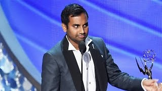 Awkward! Aziz Ansari Played Off Emmy Stage Before Giving His Speech