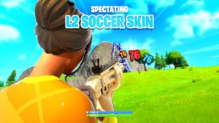 i spectated the sweatiest soccer skins ever on fortnite... (SO FUNNY)