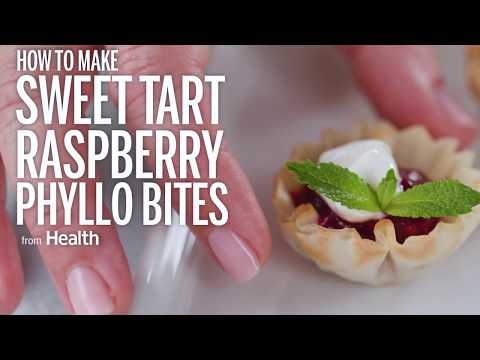 How to Make Sweet Tart Raspberry Phyllo Bites | Health