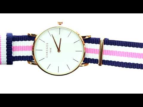 Unboxing XLORDX Damen Unisex Armbanduhr elegant Quarzuhr Uhr modisch Nato Band Blau Weiß Rosa