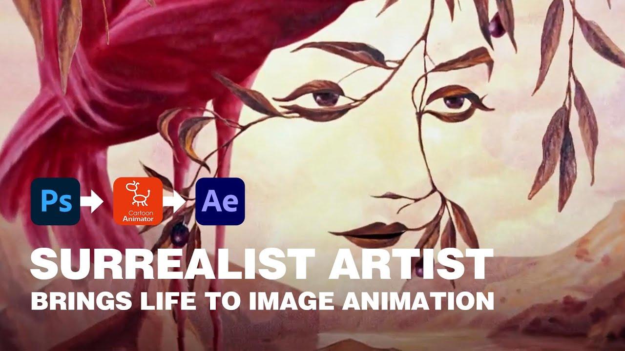 2d animation software demo video - surrealist art animation