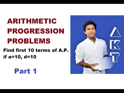Arithmetic Progression Problems: Class 10: PART 1