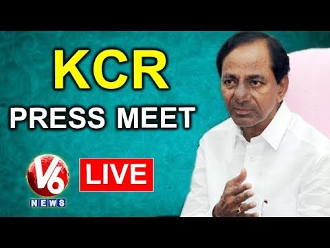 CM KCR Press Meet After Telangana Cabinet Meeting LIVE   V6 News
