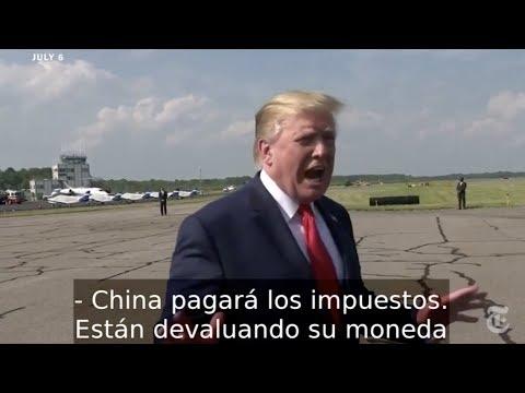 """Trump ha repetido con insistencia que """"China pagará los impuestos"""""""