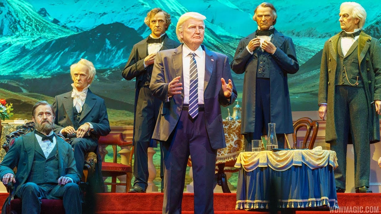New Hall of Presidents with Donald Trump