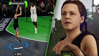 NBA LIVE 19 DEMO GAMEPLAY! BEST FEMALE 3-POINT SHOOTER BUILD LIKE CHEF CURRY! Ep. 2