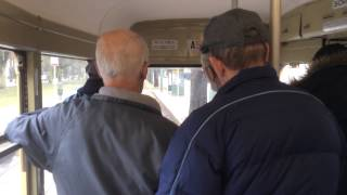 preview picture of video 'Riding a Vintage Tram from the Brussels Tram Museum (Trip to Europe)'