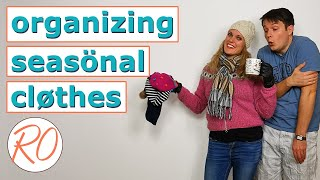 Seasonal Clothes Organization || Getting Ready For Winter