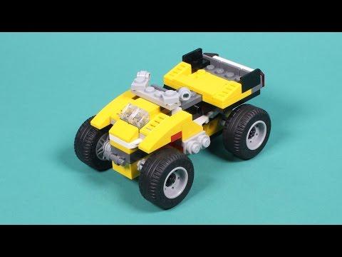 Vidéo LEGO Creator 31002 : Le super bolide