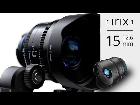 Irix Cine 15mm T2.6 lens - key features