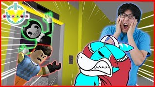 Roblox Scary Elevator Halloween Version Let's Play with BENDY, GRANNY, & HELLO NEIGHBOR!