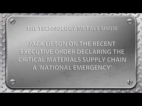 Jack Lifton on President Trump's Executive Order on Critic ... Thumbnail