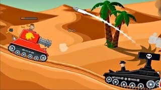Hills of Steel - TANK REAPER With Boosters VS Boss Level LEGION   Game For Kids FHD