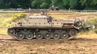 preview picture of video 'Centurian ARV Tank Crushing a Car at War & Peace Show Beltring 2011'