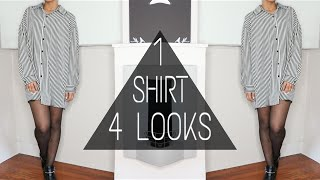 1 SHIRT 4 LOOKS | STYLING OVERSIZED TOPS | + GIVEAWAY WINNER ANNOUNCEMENT | ARIANA.AVA