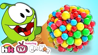OM NOM vs GIANT CANDY | Cut The Rope | Funny Cartoons Compilation for Children & Kids HooplaKidzTV!