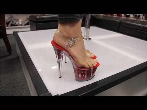 Review Pleaser Adore 708 G Red Glitter 7 Inch High Heel Shoes