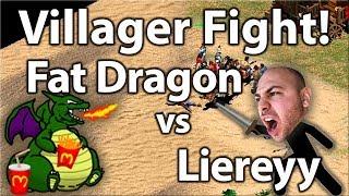 Villager Fight! Fat Dragon vs Liereyy!
