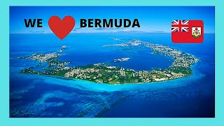 BERMUDA, beautiful aerial views of the Atlantic Ocean around it